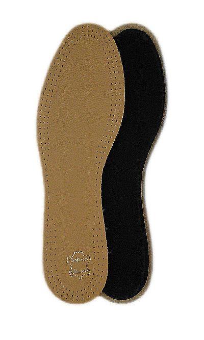 Beżowe wkładki skórzane do butów ze skóry licowej 20/2 Mazbit