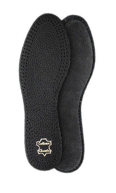 Czarne wkładki skórzane do butów ze skóry licowej 20/2 Mazbit