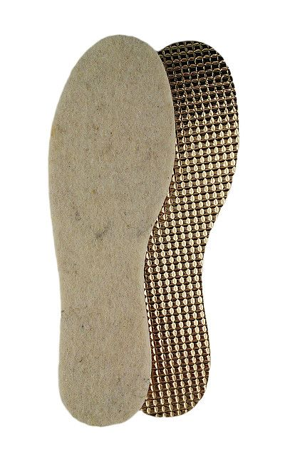 Zimowa wkładka do butów, wełna na folii aluminiowej 027/3 Alu