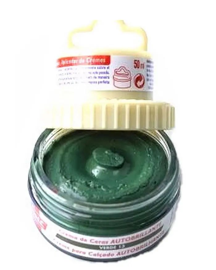 Zielona pasta woskowa, nabłyszczająca, Shoe Cream Palc