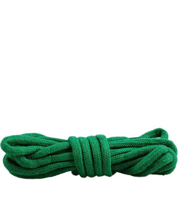 Zielone sznurówki do butów, okrągłe grube 75 cm Mazbit