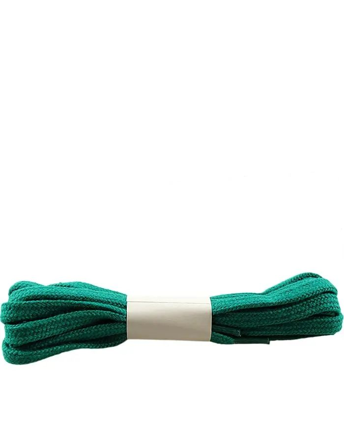 Zielone, płaskie, sznurówki do butów 100 cm Halan