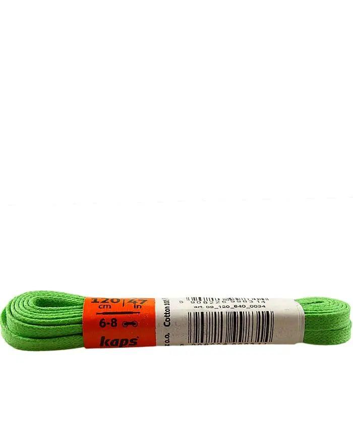 Zielone, woskowane, sznurówki do butów płaskie 120 cm Kaps