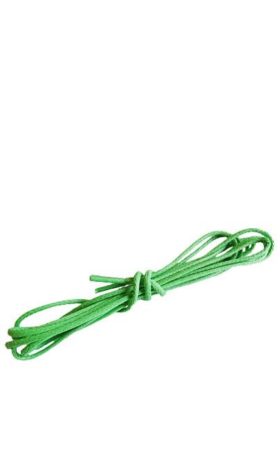 Zielone, cienkie, woskowane sznurowadła do butów, 90 cm, Kaps