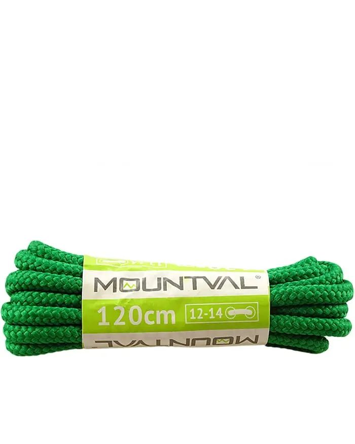 Zielone, trekkingowe sznurówki do butów, 180, Mountval