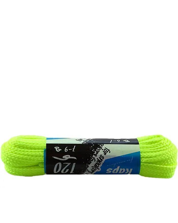 Żółte, neon, sznurówki do sneakersów, płaskie 120 cm Kaps