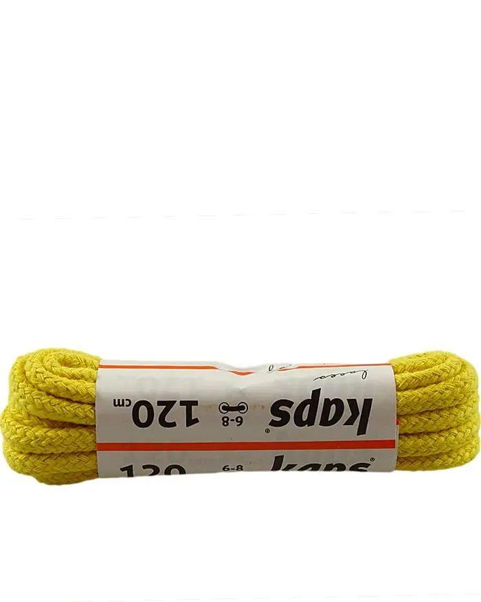 Żółte, okrągłe grube, sznurówki do butów, 120 cm, Kaps