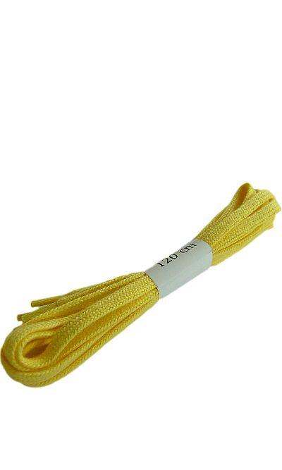 Żółte, płaskie, sznurówki do butów 120 cm Halan