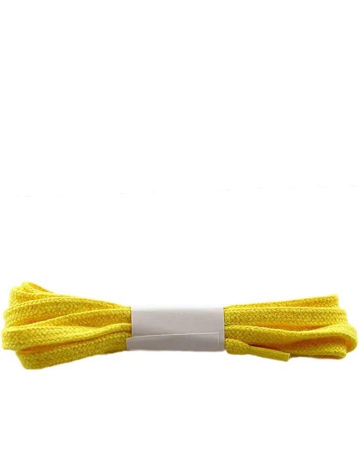 Żółte, płaskie sznurówki do butów 75 cm Halan